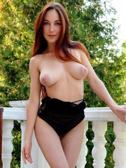Ledona topless girl with perky tits