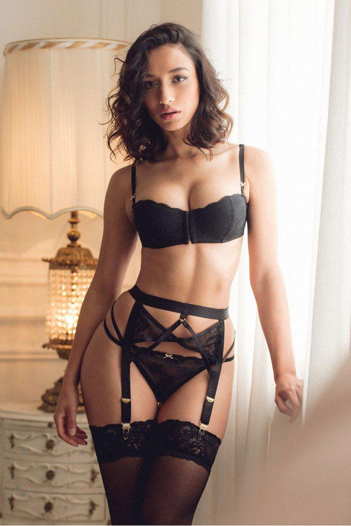 Nicola hot lingerie curves