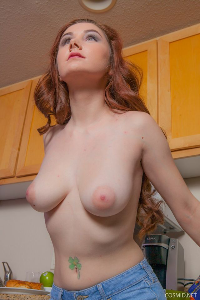 young girl topless tits with puffy nipples