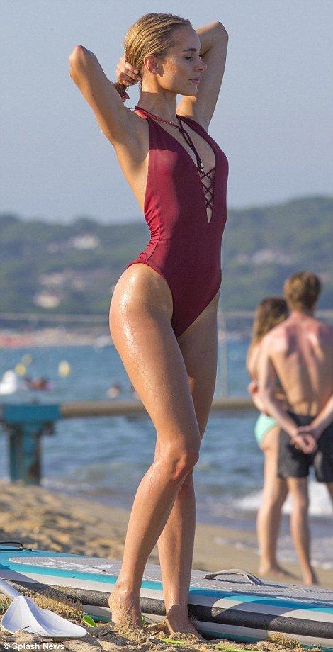 Kimberley-Garner sexy swimsuit
